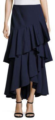 Alice + Olivia Martina Hi-Lo Ruffled Maxi Skirt $330 thestylecure.com