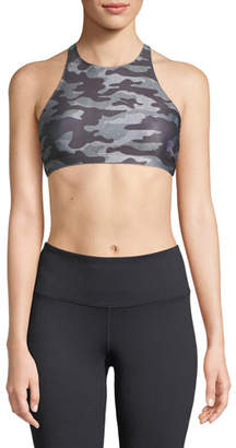 Onzie Heart Camo-Print X-Back Sports Bra