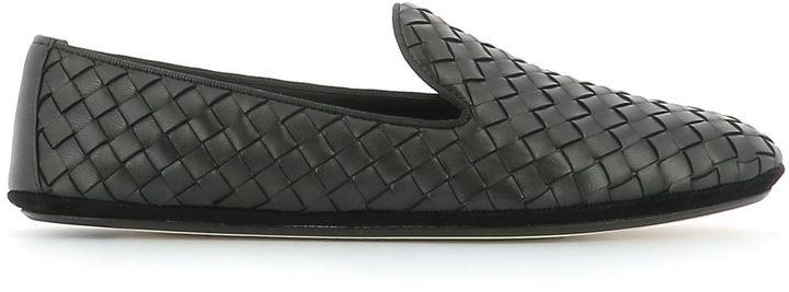 Bottega VenetaBottega Veneta Black Leather Loafers