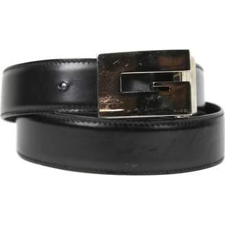 Gucci Vintage Black Leather Belts