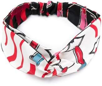 Valentino lipstick print headband