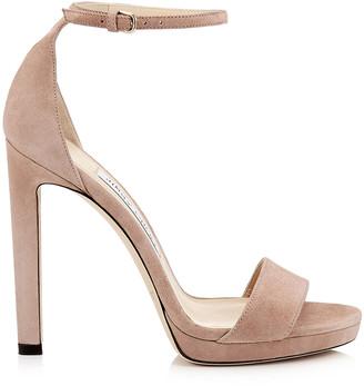 Jimmy Choo MISTY 120 Ballet Pink Platform Sandals