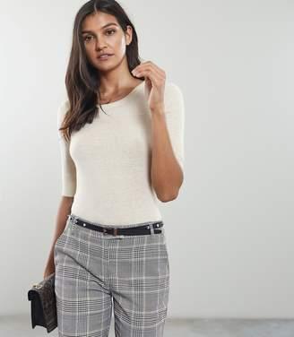 Reiss Amelia Wool Blend Short Sleeved Jumper