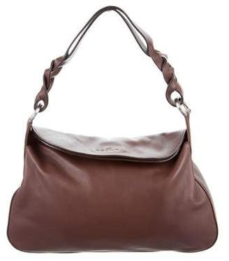 Hogan Leather Fold-Over Bag