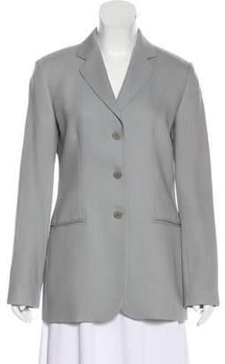 Emporio Armani Virgin Wool Notch-Lapel Blazer