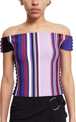 Opening Ceremony Striped Off-The-Shoulder Top
