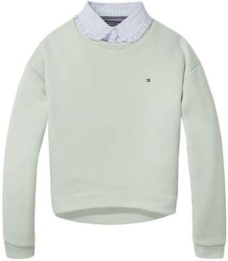 Tommy Hilfiger TH Kids Sweater With Detachable Shirt Collar