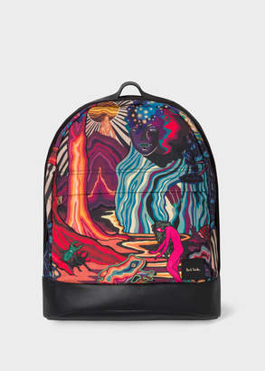 Paul Smith Men's 'Dreamer' Print Backpack With Leather Trims