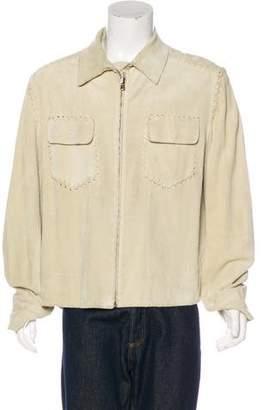 Dolce & Gabbana Suede Stitched Jacket