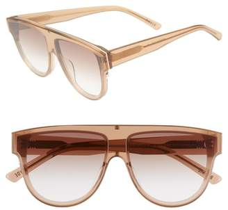 CLYDE BONNIE Continuum 63mm Oversize Flat Top Sunglasses