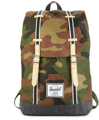 Herschel Offset Retreat Camouflage-Print Backpack