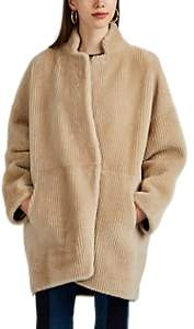 BEIGE Boon The Shop Women's Reversible Shearling & Suede Coat - Beige, Tan