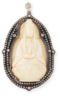 Armenta Large Bone Buddha Champagne Diamond Enhancer