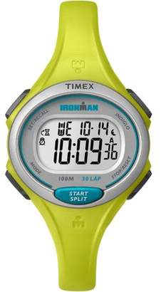 Timex Women's Ironman Essential 30 Mid-Size Lime Resin Strap Watch