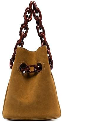 Trademark brown suede goodall two tone tote