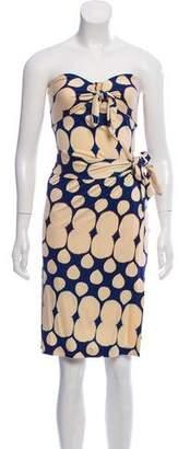 Diane von Furstenberg Tahiti Silk Draped Dress