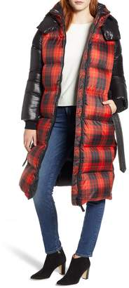 Mackage Plaid Down Hooded Jacket
