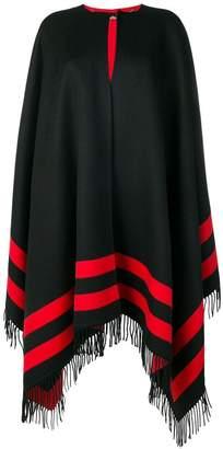 Alexander McQueen reversible striped cape