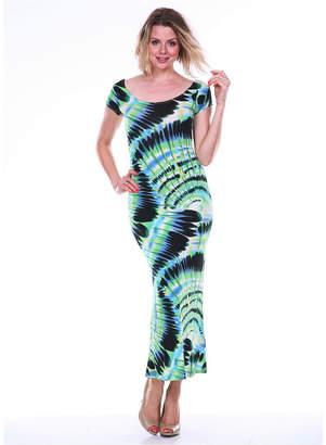 White Mark Women Cut-Out Back Maxi Dress