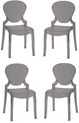 Pangea Set Of 4 Azure Dining Chairs