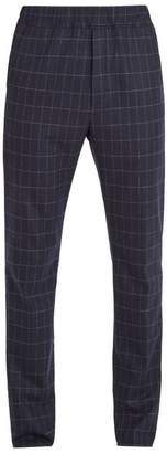 Bottega Veneta Mid-rise slim-leg windowpane-check wool trousers