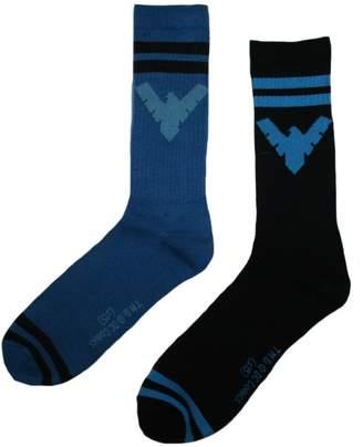 Bioworld Nightwing Mens' Crew Socks 2 Pair