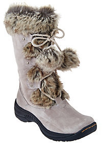 As Is BareTraps Suede Water Repellant Boots with Faux Fur - Rei $59 thestylecure.com