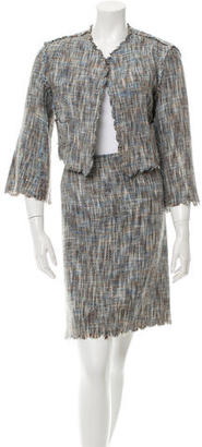 Paul Smith Tweed Open Front Skirt Suit $145 thestylecure.com