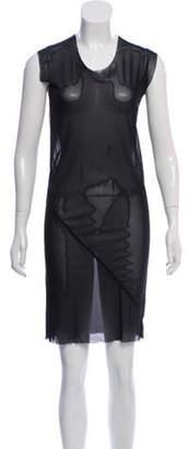 Rick Owens Sheer Knee-Length Dress Black Sheer Knee-Length Dress