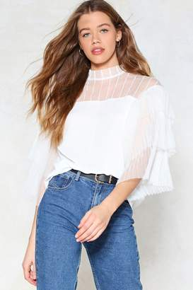 Nasty Gal Un-Tulle Next Time Blouse