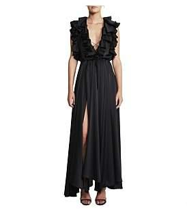 Shona Joy Ruffle Midi Dress
