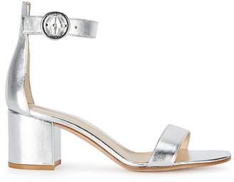 Gianvito Rossi Versilla Silver Leather Sandals