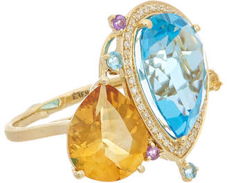 Effy Fine Jewelry 14K 12.47 Ct. Tw. Diamond & Gemstone Ring