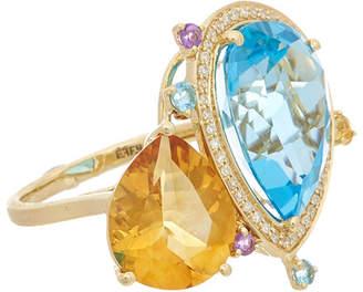 Effy Fine Jewelry 14K 12.47 Ct. Tw. Diamond & Gemstone Ring