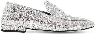 Chiara Ferragni 10mm Flirty Eye Glittered Loafers