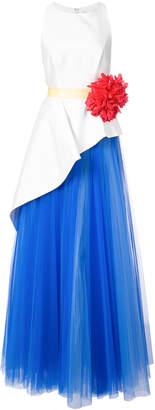 Carolina Herrera Mikado asymmetrical gown
