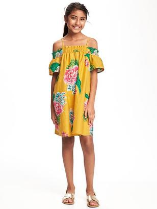 Floral Off-the-Shoulder Swing Dress for Girls $26.94 thestylecure.com