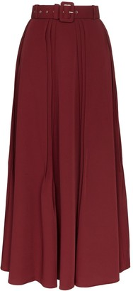 N. Duo pleated maxi skirt