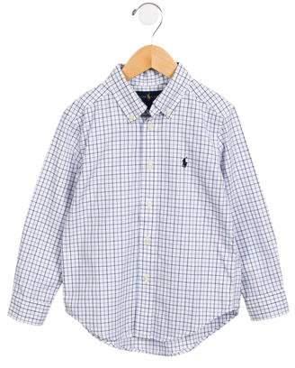 Ralph Lauren Boy's Tartan Button-Up Shirt