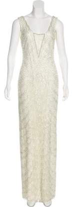 Aidan Mattox Embellished Sleeveless Gown w/ Tags