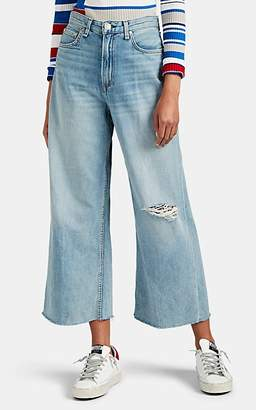 Rag & Bone Women's Ruth Super High-Rise Wide-Leg Jeans - Blue