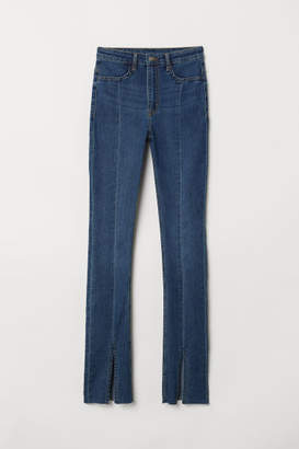 H&M Twill Pants with Slits - Blue