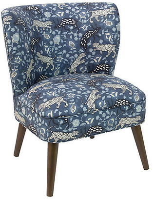 One Kings Lane Bailey Accent Chair - Leopard Blue