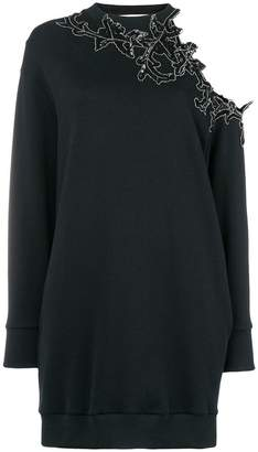 Christopher Kane sequin flower cut out hoodie dress