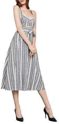 BCBGMAXAZRIA Sleeveless Striped Sundress