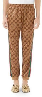 Gucci Men's Large Vintage Logo-Print Track Pants