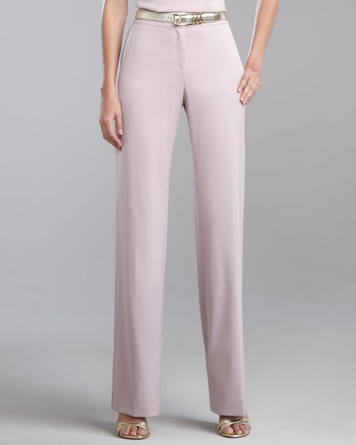 Shelley Stretch-Wool Pants, Orchid