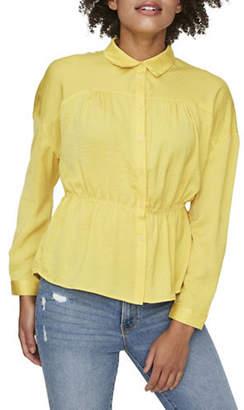 Vero Moda Core Peplum Button-Down Shirt