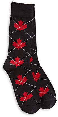 CANADIAN OLYMPIC TEAM COLLECTION Maple Leaf and Argyle Crew Socks
