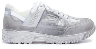Maison Margiela Security Dirty Treatment Distressed Trainers - Mens - White